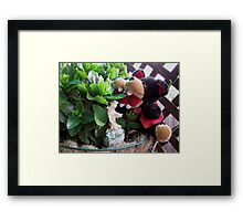 RnR gardening and meeting the Fairy Framed Print