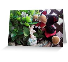 RnR gardening and meeting the Fairy Greeting Card