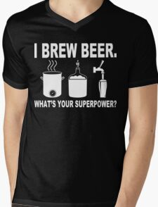I brew beer what's your superpower Funny Geek Nerd Mens V-Neck T-Shirt