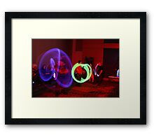 Crave the Rave  Lightened Path Framed Print