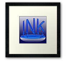 Splashing Ink Framed Print