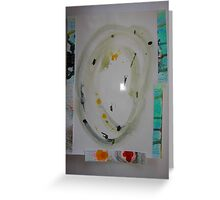 Wet Oval Greeting Card