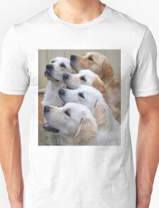 Five Golden Retrievers Unisex T-Shirt