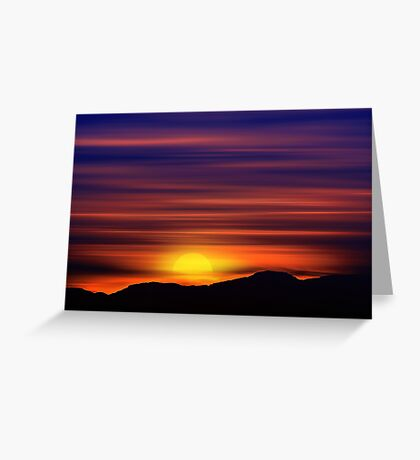 The Painted Sky (2) Greeting Card