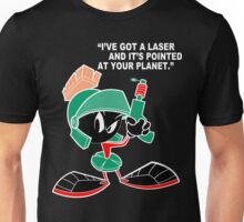 Marvin with laser pointed up Funny Geek Nerd Unisex T-Shirt