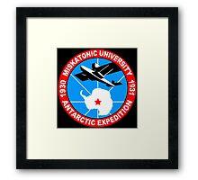 Miskatonic university antarctic expedition Funny Geek Nerd Framed Print