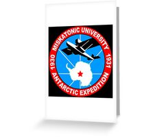 Miskatonic university antarctic expedition Funny Geek Nerd Greeting Card