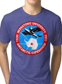 Miskatonic university antarctic expedition Funny Geek Nerd Tri-blend T-Shirt