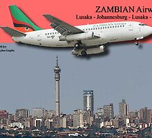 Poster - Zambian Airways by Paul Lindenberg