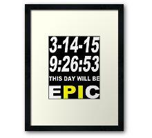 Pi day 2015 pie math Funny Geek Nerd Framed Print