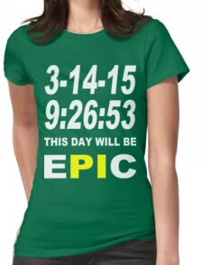 Pi day 2015 pie math Funny Geek Nerd Womens Fitted T-Shirt