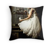 WHITE DOVE Throw Pillow
