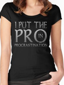 Procrastination Funny Geek Nerd Women's Fitted Scoop T-Shirt