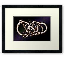 Viking Dragon in metal Framed Print