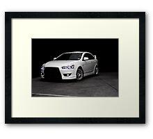White Lancer Framed Print