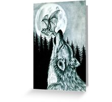 The Wolf and The Bat Greeting Card