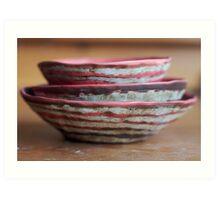 Three Red Bowls Art Print