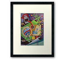 Abstract with Green Triangle and Turning Page Framed Print