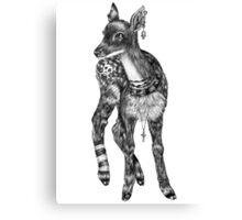 Fancy Animals: Deer Canvas Print