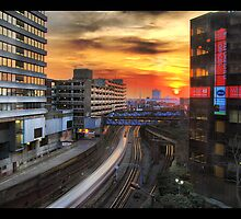 Sunset in metropolis by Paul Clifford Bannister