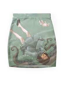 Falling, Drowning Mini Skirt