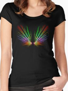 'Angel Wings' Women's Fitted Scoop T-Shirt
