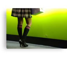 knee high socks Canvas Print