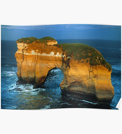 The Island Arch at Loch Ard Gorge near The Twelve Apostles, Victoria, Australia. Poster