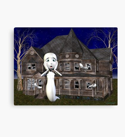 Haunted House .. a ghosts tale Canvas Print