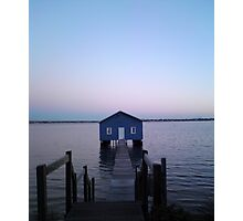 Home Blue Home Photographic Print