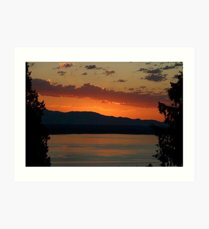 Sunset in Shoreline, Washington Art Print