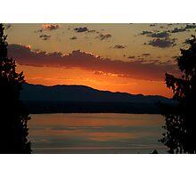 Sunset in Shoreline, Washington Photographic Print