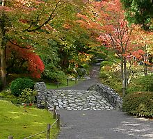 Fall at the Japanese Gardens in the Washington Park Arboretum by Barb White