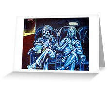 Elvis and Jesus At The Movies Greeting Card