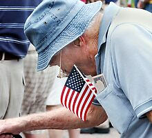 Bent over patriot by Larry  Grayam