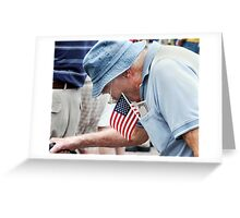 Bent over patriot Greeting Card