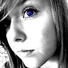one blue eye.. by Christina Parapadakis