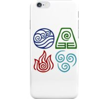 Avatar Four Elements Square iPhone Case/Skin