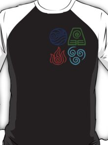 Avatar Four Elements Square T-Shirt