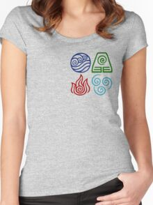 Avatar Four Elements Square Women's Fitted Scoop T-Shirt