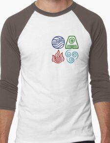 Avatar Four Elements Square Men's Baseball ¾ T-Shirt