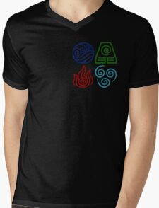Avatar Four Elements Square Mens V-Neck T-Shirt