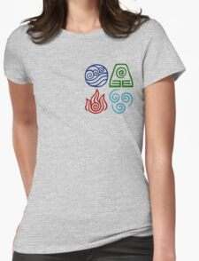 Avatar Four Elements Square Womens Fitted T-Shirt