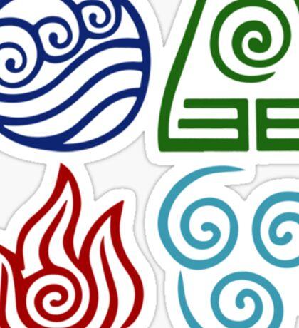 Avatar Four Elements Square Sticker