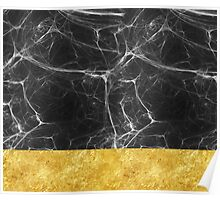 Black Marble and Gold Poster
