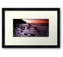 Burnt Orange Rocky Road Framed Print