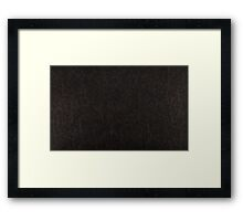 leather dark Framed Print