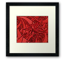 Unknown Internal Vision [Abstract #56] RED Framed Print
