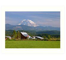 Mt. Rainier in the Backyard  Art Print
