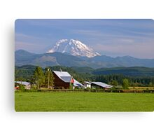 Mt. Rainier in the Backyard  Canvas Print